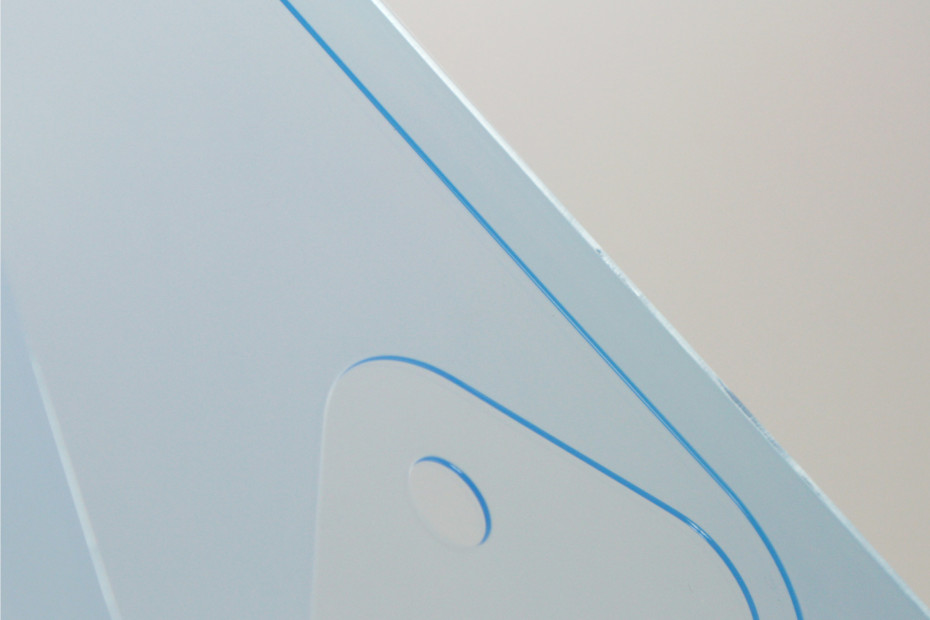 Metocene | material thickness/colour | blue