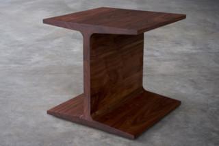 I beam side table  by  Matthew Hilton