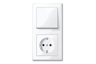 M-SMART Switch and socket combi  by  Merten