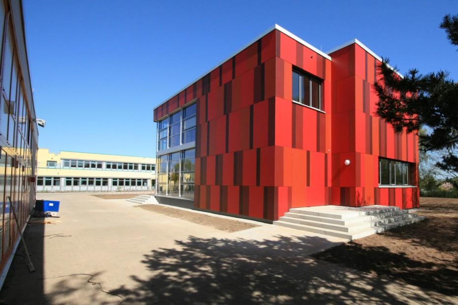 Innenwandverkleidung, Einhardschule Seligenstadt