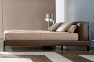 Alison Black Bed  by  Minotti