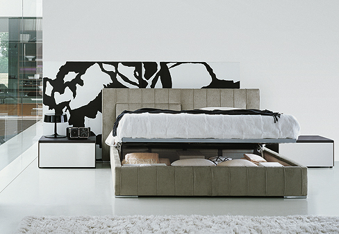 high wave bett von molteni c stylepark. Black Bedroom Furniture Sets. Home Design Ideas