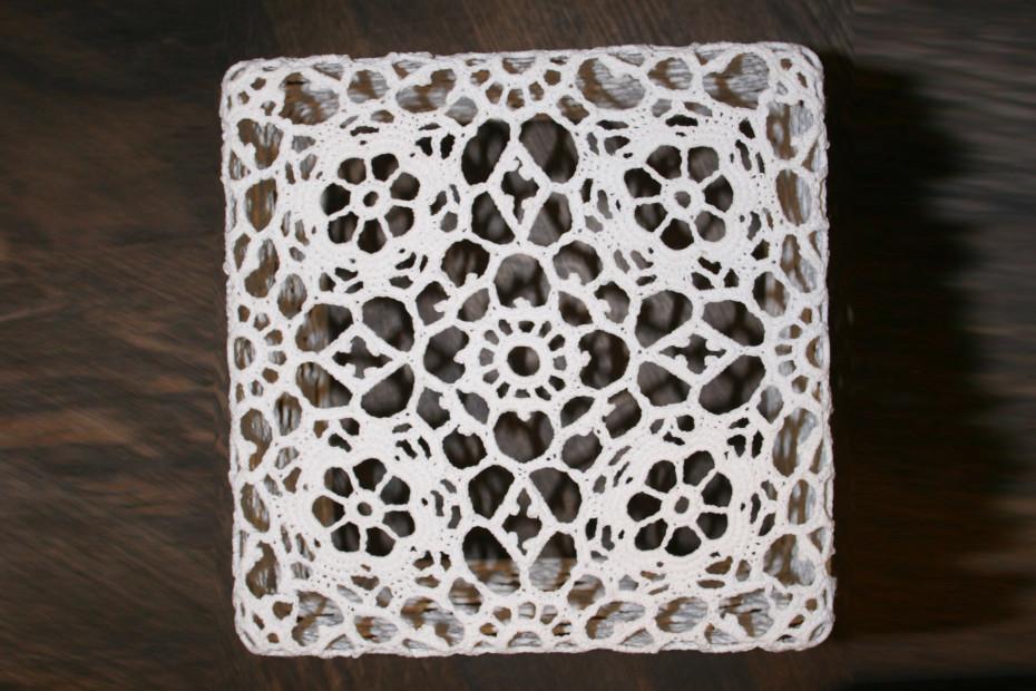 Crochet side table