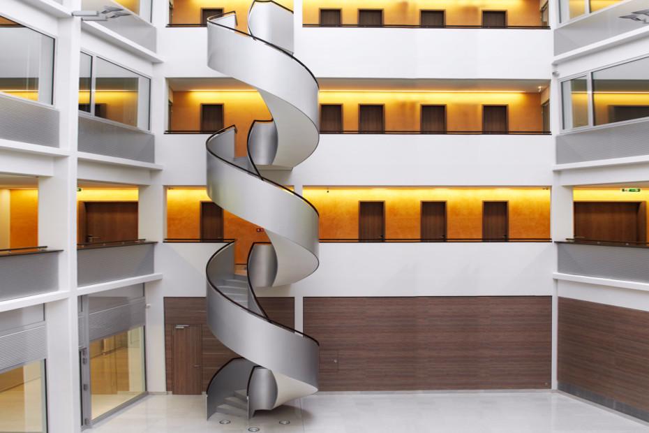 Helical stair railing, Ferag