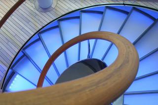 Helical stairs, Hamburg  by  Nautilus