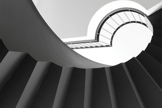 Helical stairs, Viechtach  by  Nautilus