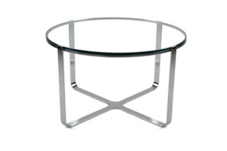 Trace rund Table with glass surface  by  naughtone