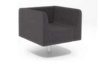 Trim Armchair with swivel base  by  naughtone