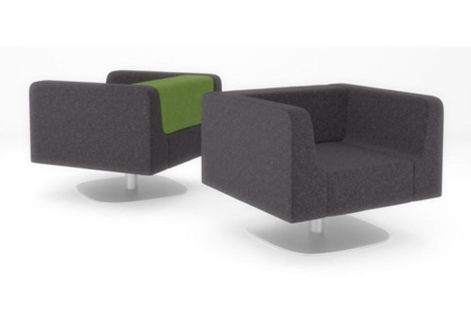 Trim Armchair with swivel base