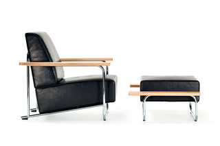 Lovell Easy Chair Steel  von  NEUTRA by VS