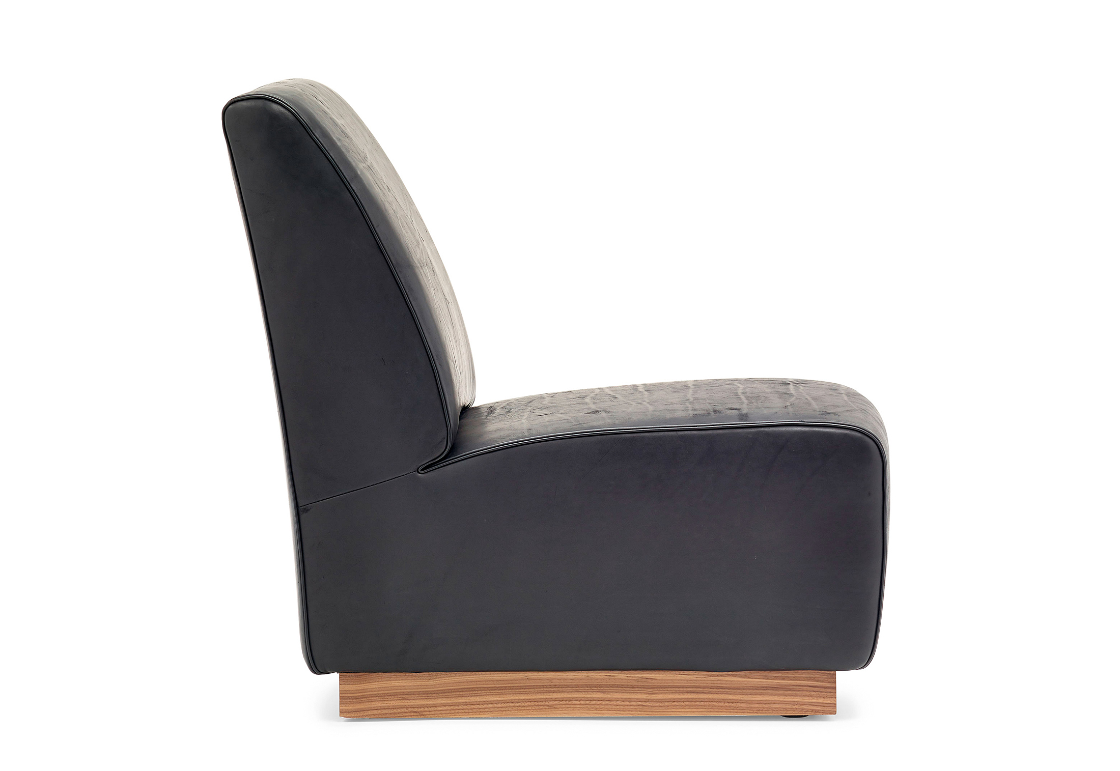 chair australia media leather west slipper curved elm modern