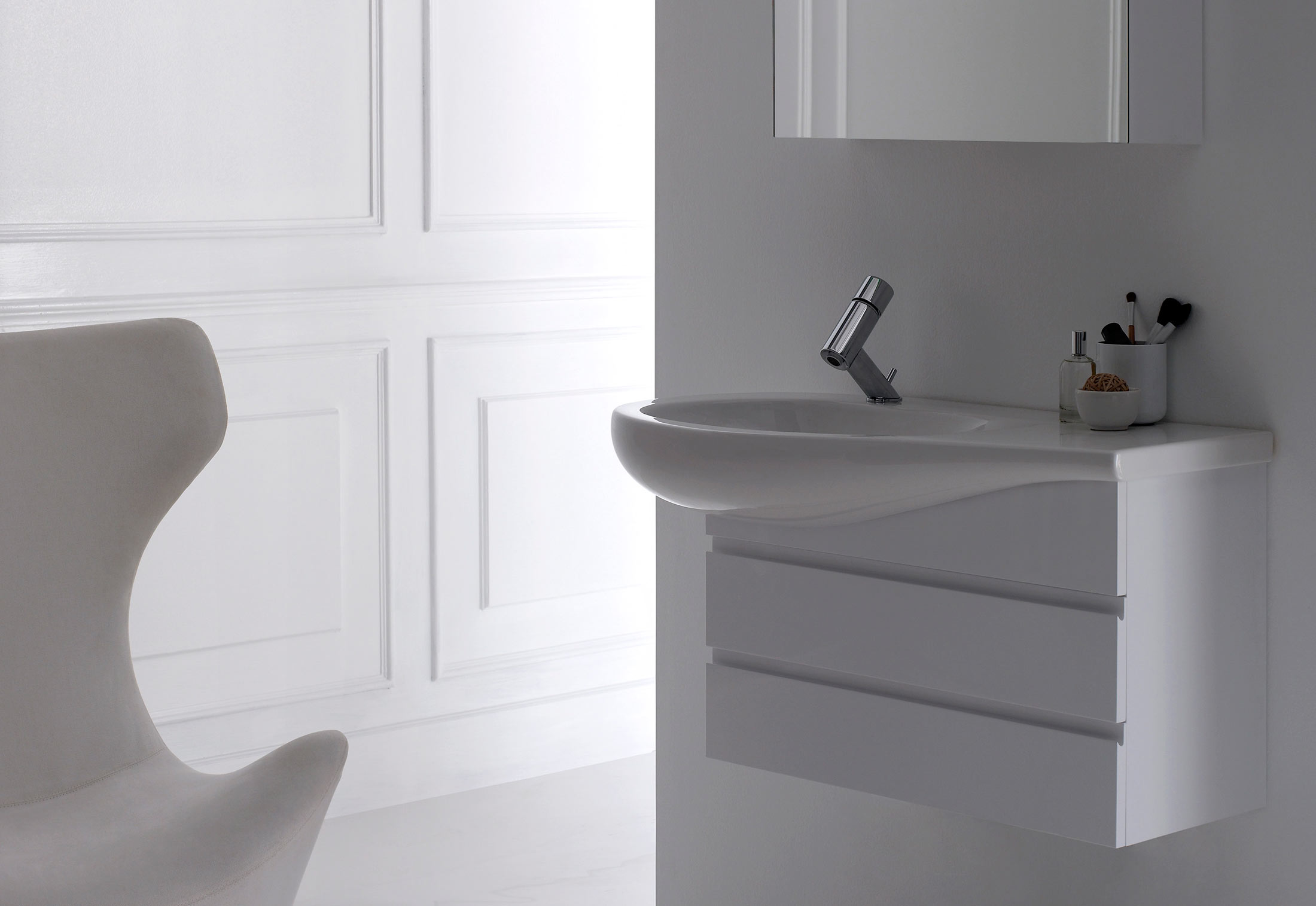 Il Bagno Alessi One single washbasin under counter by Laufen | STYLEPARK