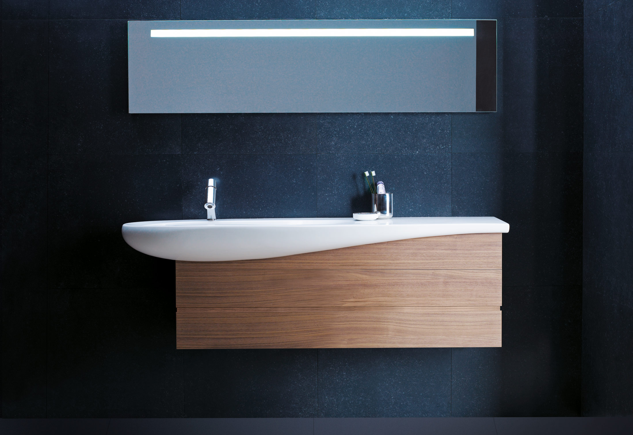 Il bagno alessi one single washbasin under counter by laufen stylepark - Il bagno magazine ...