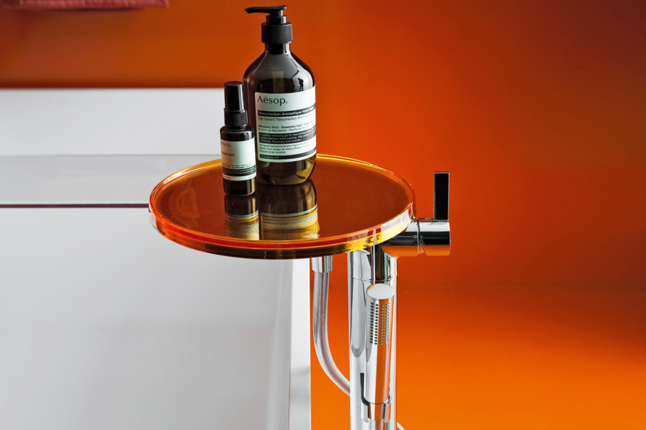 Kartell by Laufen column bath mixer disc