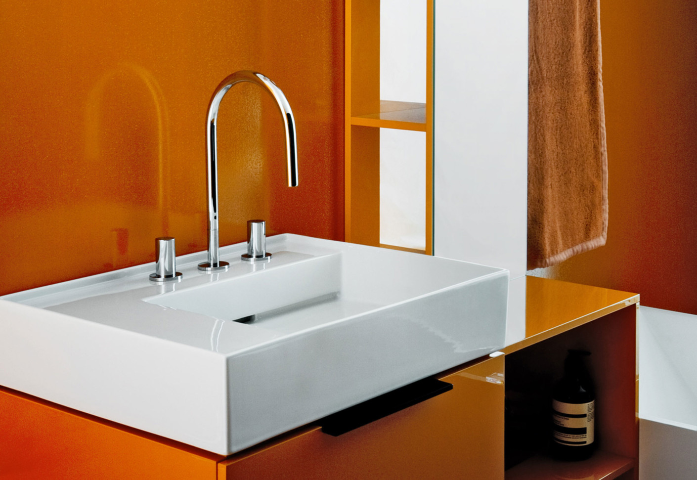 kartell by laufen washbasin mixer 3 hole by laufen stylepark. Black Bedroom Furniture Sets. Home Design Ideas