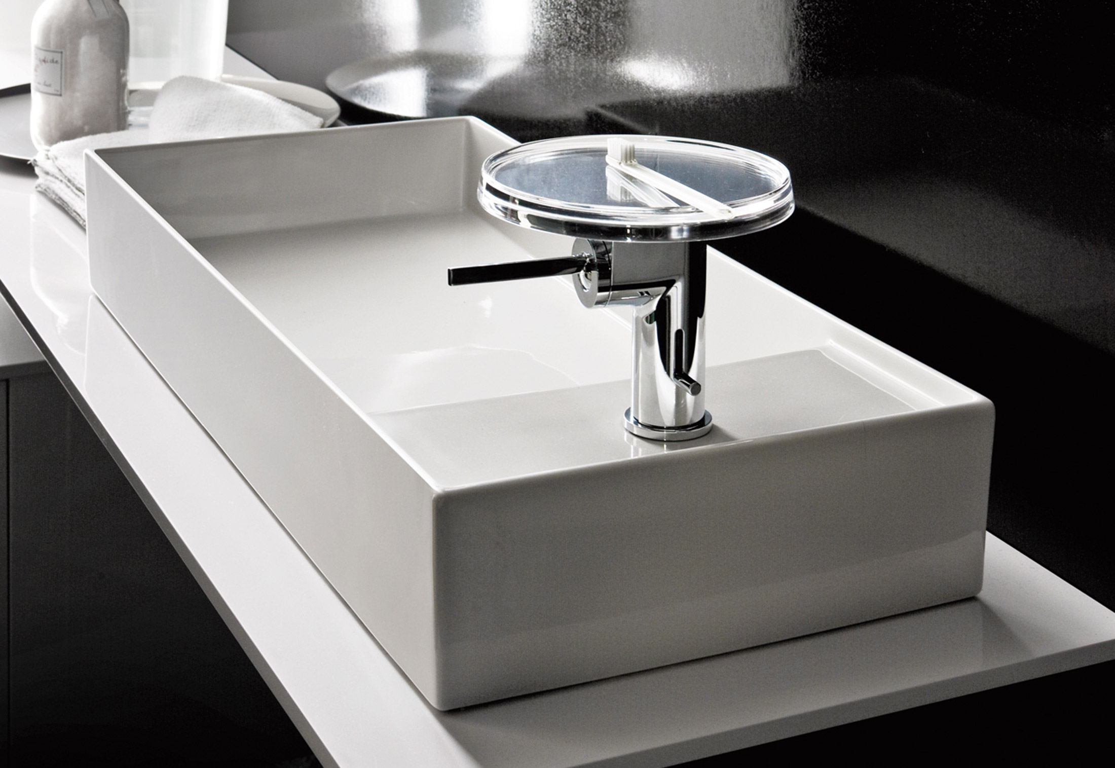 Single Lever Bath Shower Mixer Kartell By Laufen Washbasin Mixer Disc By Laufen Stylepark