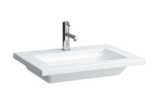 Living square washbasin small  by  Laufen