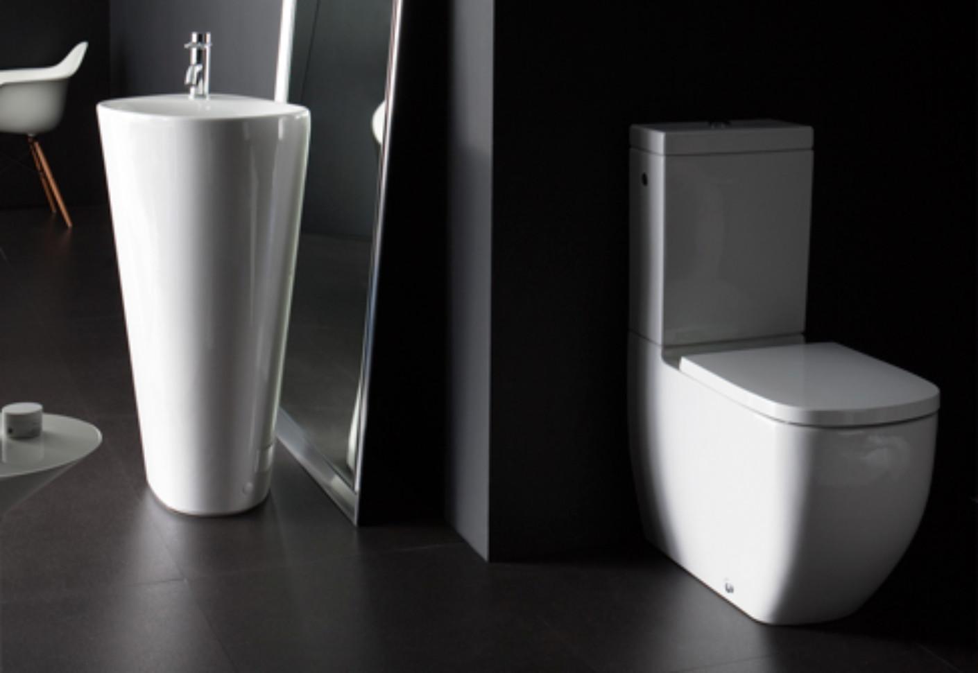 palomba stand wc kombination von laufen stylepark. Black Bedroom Furniture Sets. Home Design Ideas