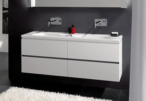 palomba waschtischunterbau mit zwei schubladen von laufen stylepark. Black Bedroom Furniture Sets. Home Design Ideas