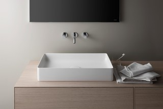 SaphirKeramik washbasin bowl rectangular  by  Laufen