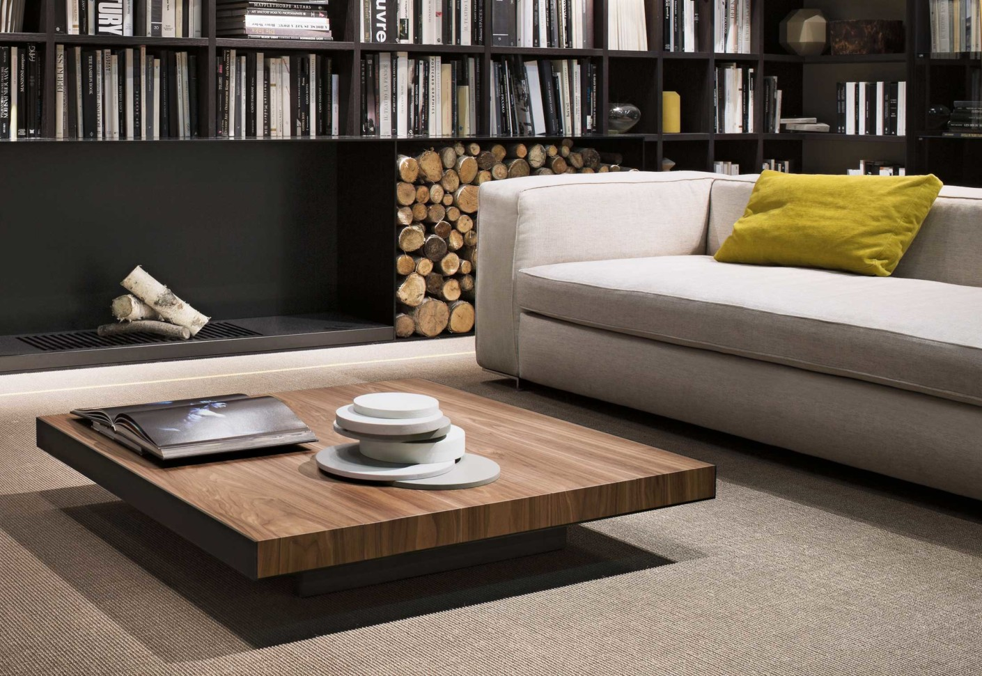 Deck coffee table by lema stylepark - Table basse rangement bouteilles ...