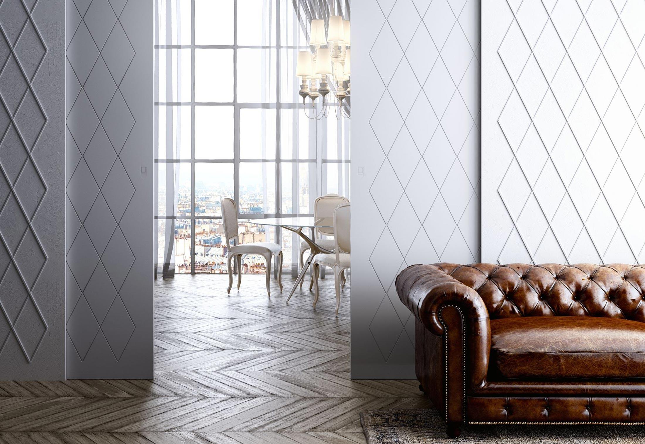 marea in der wand laufende schiebet r von linvisibile stylepark. Black Bedroom Furniture Sets. Home Design Ideas