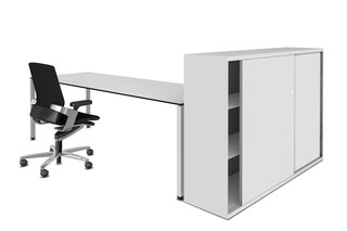 LO One sliding-door cabinet  by  Lista Office LO