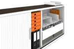 One tambour doors storage units acoustic  by  Lista Office LO