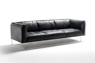 Rod Leather sofa  by  Living Divani