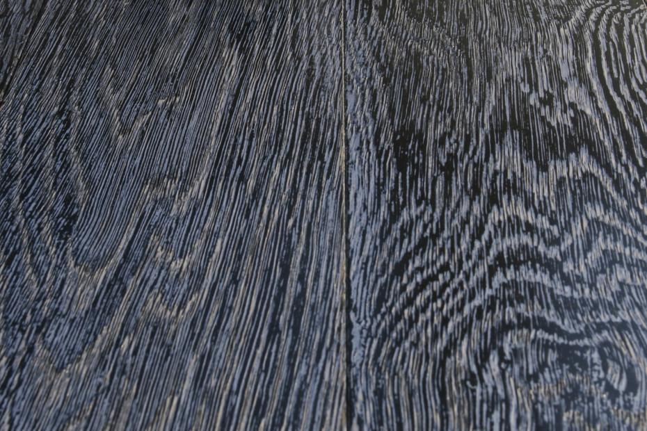 Eiche schwarz Lack silber