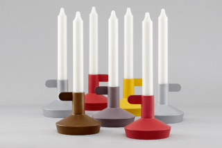 Flag candle holder  by  Normann Copenhagen