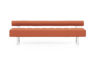 Greta bench with backrest  by  Nurus