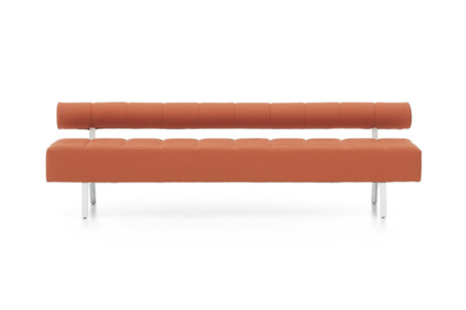Greta bench with backrest