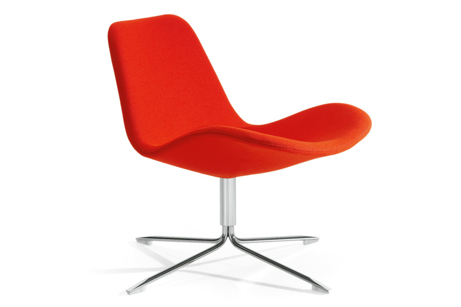 Spoon Easy chair with low backrest
