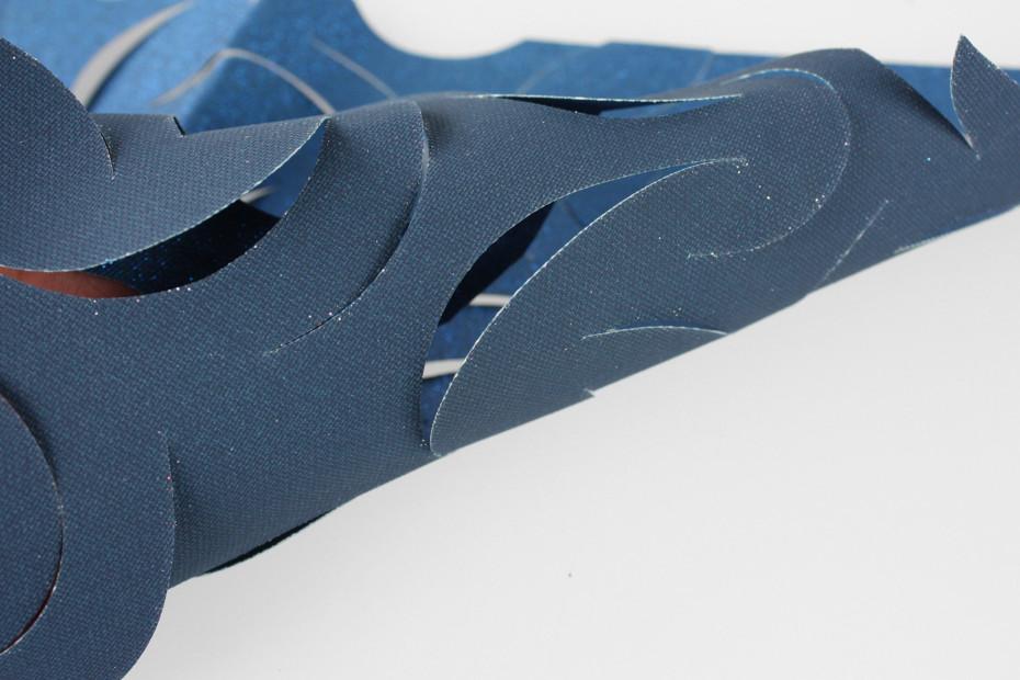 Leaf Net 3D glitter pattern net