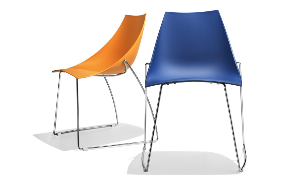 Koop chair on slides