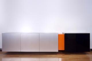 Aluminium & acrylic sideboard  by  Paul Kelley