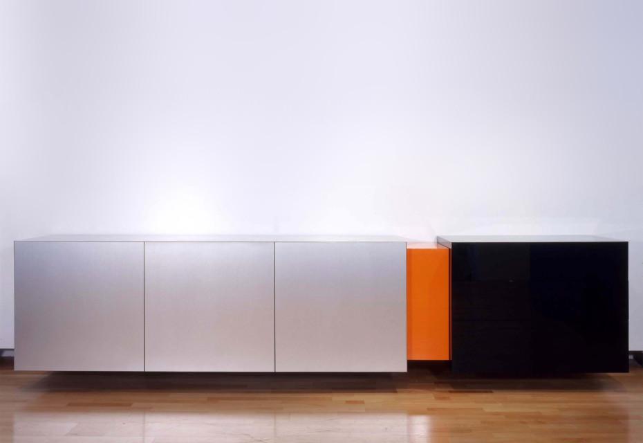 Aluminium & acrylic sideboard