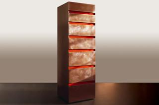 Copper & acrylic tallboy  by  Paul Kelley