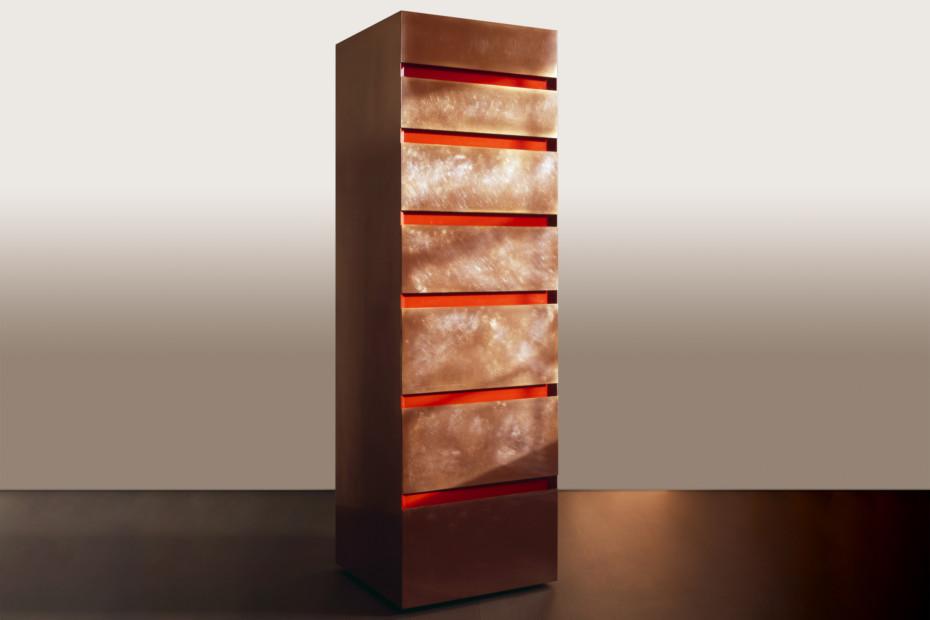 Copper & acrylic tallboy