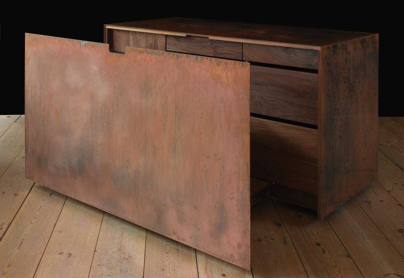 Copper And Walnut Desk By Paul Kelley Stylepark