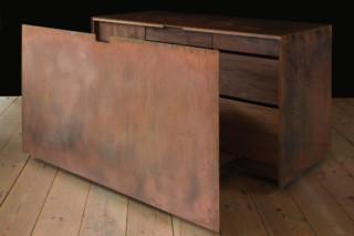 Copper and Walnut desk  by  Paul Kelley