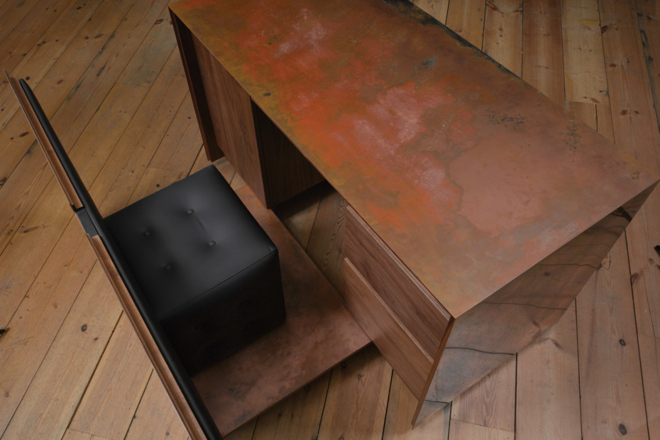 Copper and Walnut desk