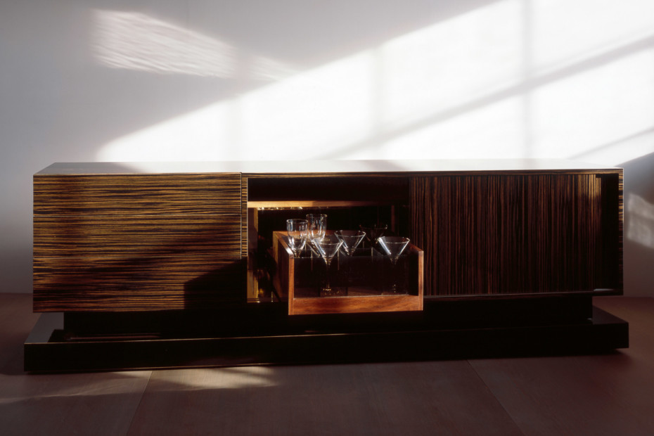 Macassar ebony sideboard bar