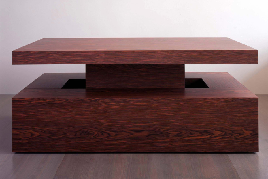 Rosewood table and benches