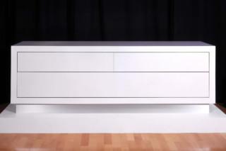 White acrylic sideboard  by  Paul Kelley