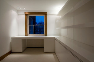 White room shelves system  by  Paul Kelley