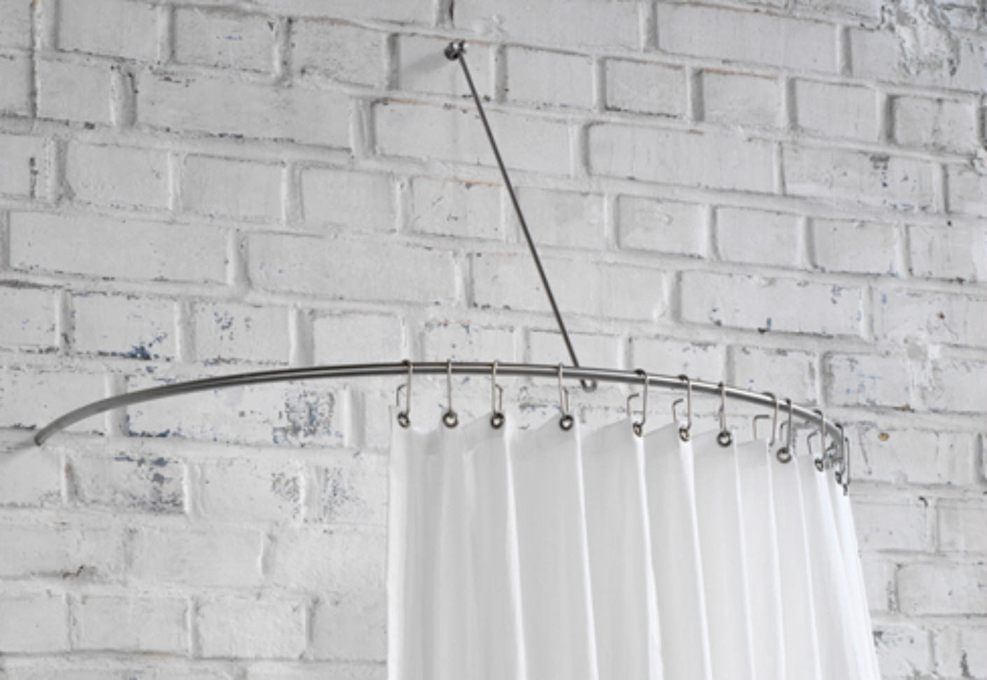 Shower Curtain Semi Circle Rail DR 140 HW By PHOS