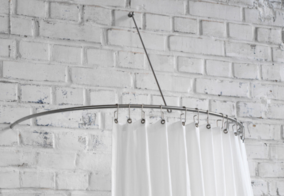 Shower curtain semi circle rail DR 140 HW by PHOS | STYLEPARK