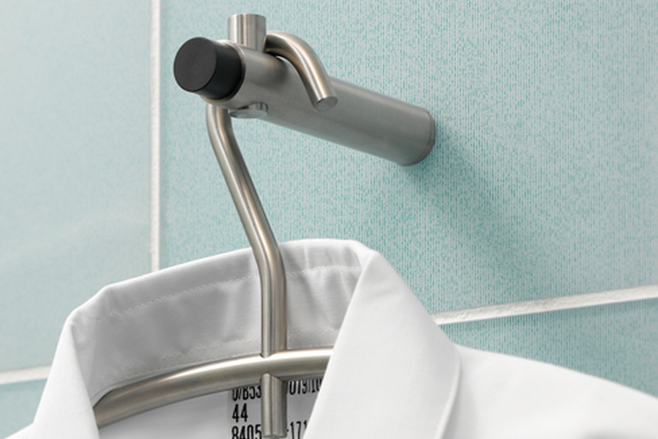 Wall hook H 20-100 TS with doorstop